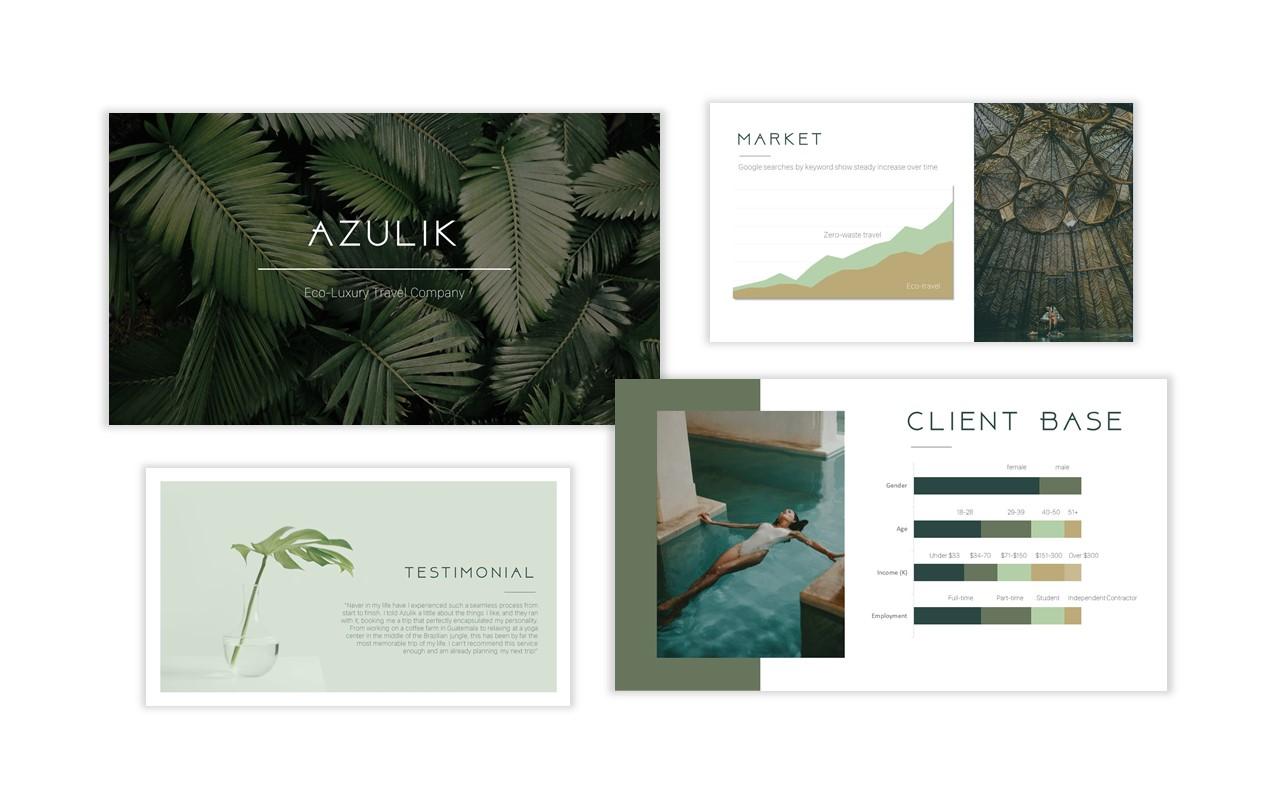 4 PowerPoint Slides From Presentation for Azulik