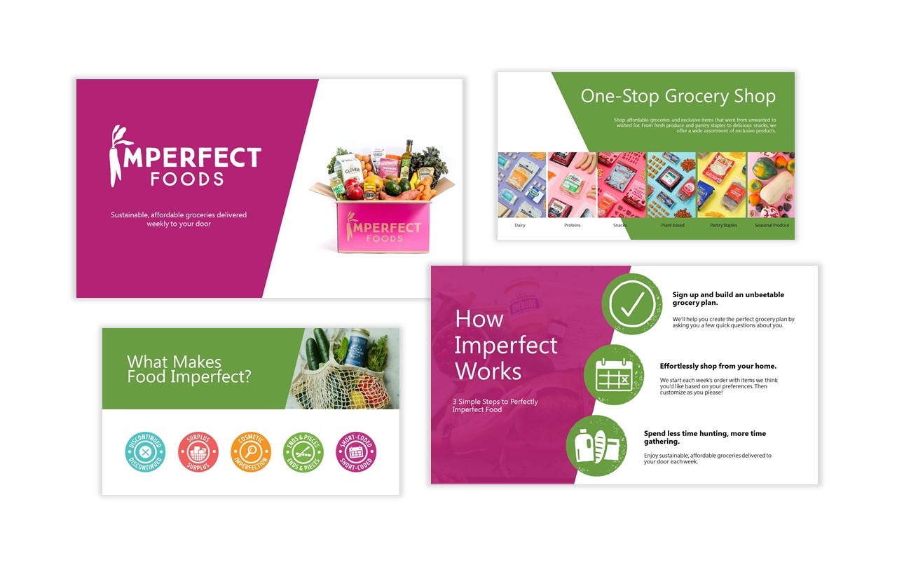 4 PowerPoint Slides From Presentation for Imperfect Foods
