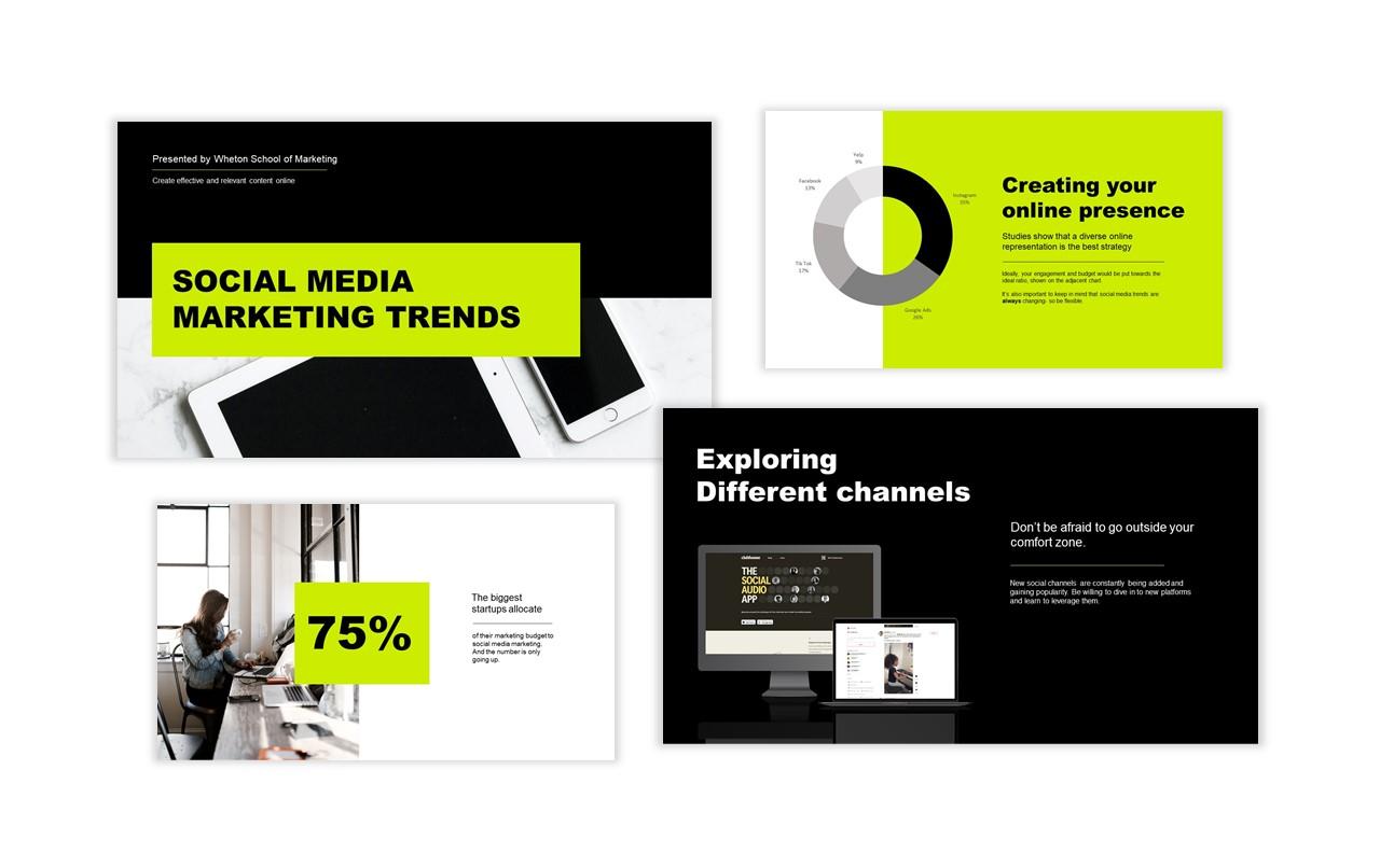 4 PowerPoint Slides From Presentation for Social Media Marketing